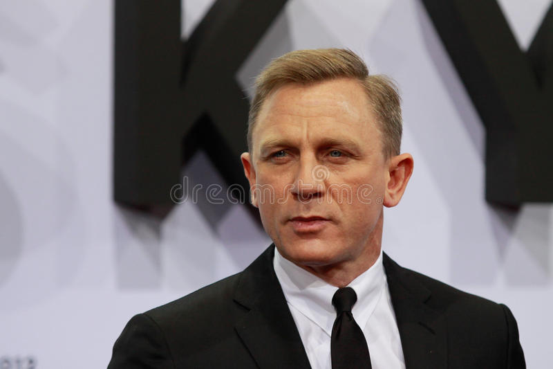 Ator Daniel Craig fotografia de stock royalty free