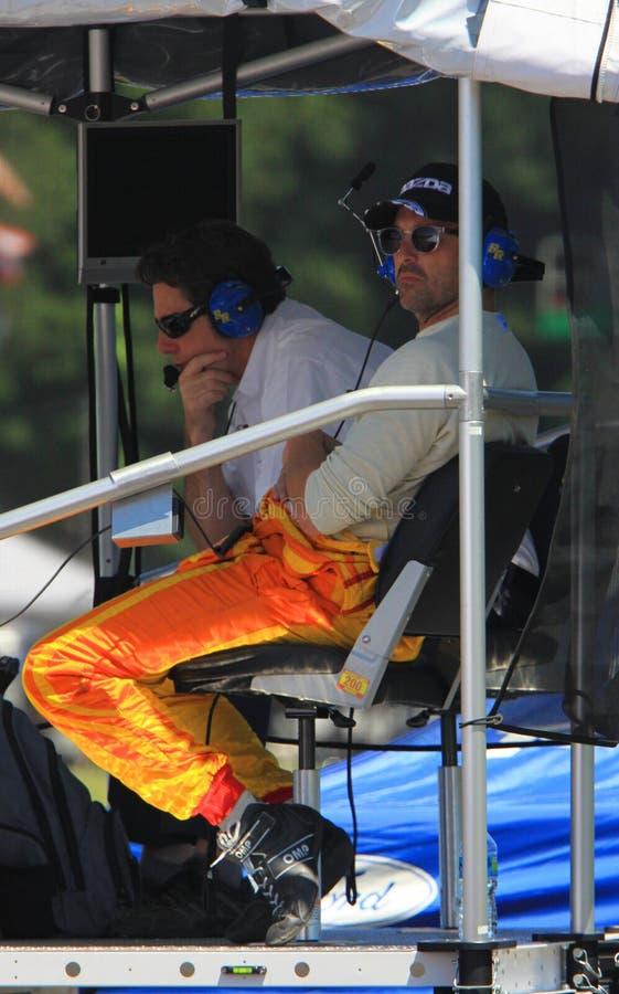 Ator de Patrick Dempsey e motorista de carro de corridas foto de stock royalty free