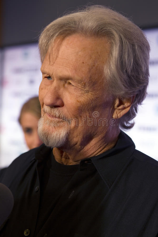 Ator Kris Kristofferson do compositor do cantor foto de stock royalty free