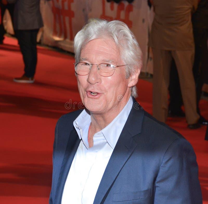 Ator Richard Gear na conferência de imprensa do ` de Christs do ` três em TIFF17 imagens de stock royalty free