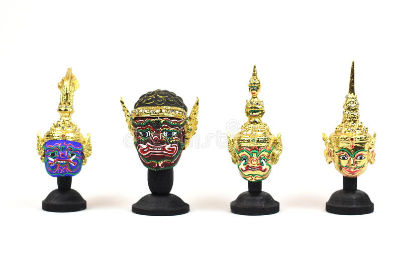 Ator& tailandês tradicional x27; máscara de s fotografia de stock royalty free