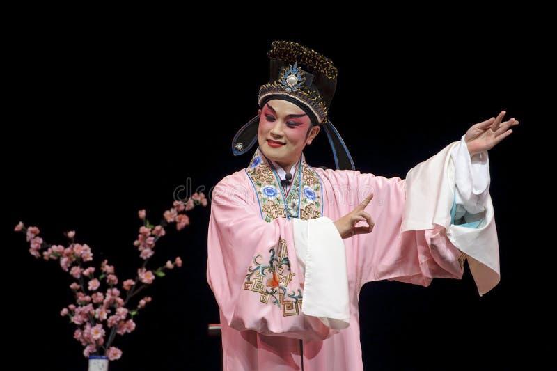Ator tradicional chinês da ópera fotografia de stock