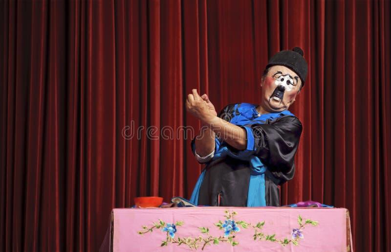 Ator tradicional chinês do mime foto de stock royalty free