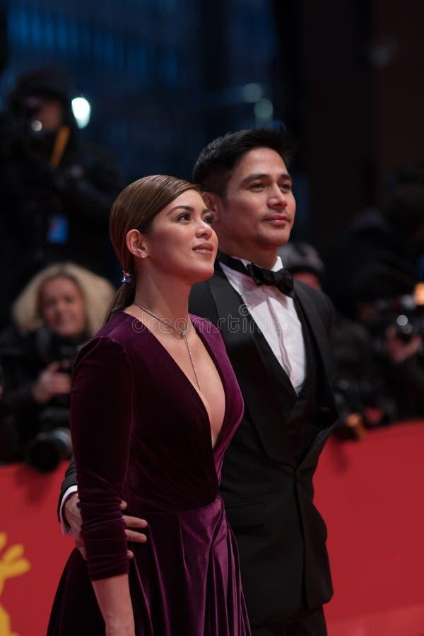 Atores filipinos Shaina Magdayao e Piolo Pascual durante Berlinale 2018 fotos de stock