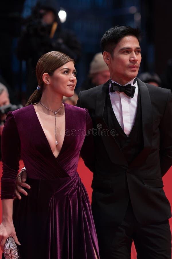 Atores filipinos Shaina Magdayao e Piolo Pascual durante Berlinale 2018 imagens de stock royalty free