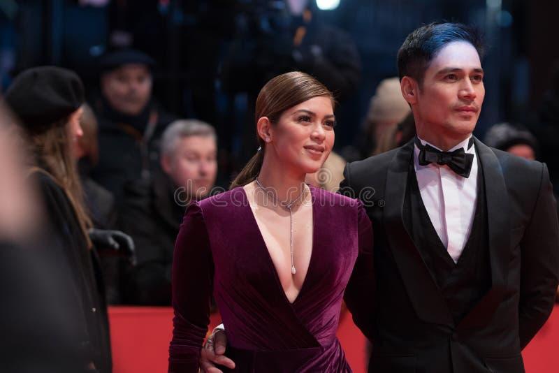 Atores filipinos Shaina Magdayao e Piolo Pascual durante Berlinale 2018 fotografia de stock royalty free