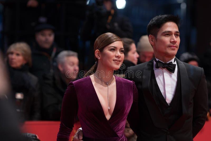 Atores filipinos Shaina Magdayao e Piolo Pascual durante Berlinale 2018 fotografia de stock