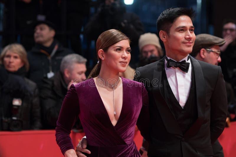 Atores filipinos Shaina Magdayao e Piolo Pascual durante Berlinale 2018 imagens de stock