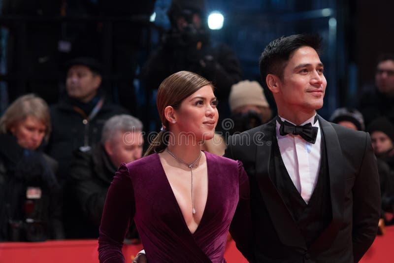 Atores filipinos Shaina Magdayao e Piolo Pascual durante Berlinale 2018 imagem de stock royalty free