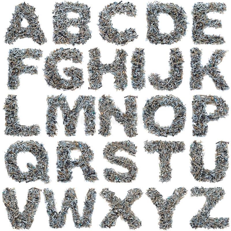 Atornilla alfabeto imágenes de archivo libres de regalías