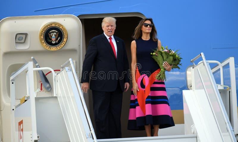 Atout de Donald Trump et de Melania photographie stock