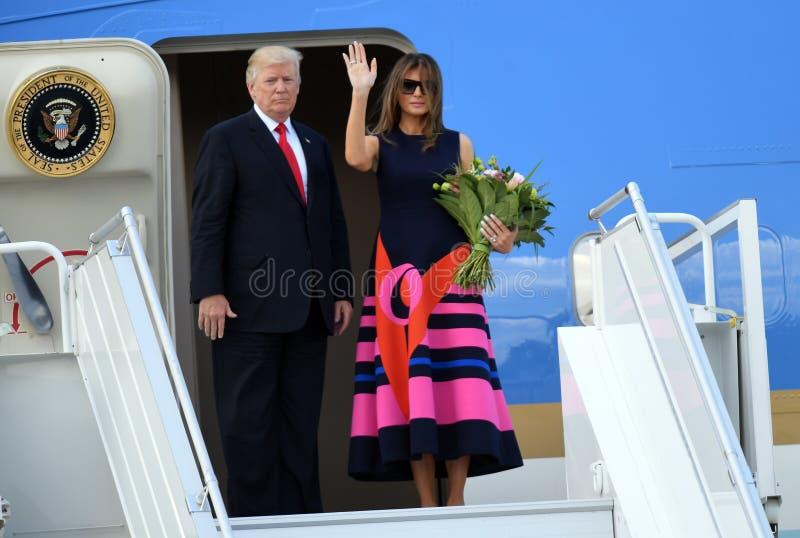 Atout de Donald Trump et de Melania photos libres de droits