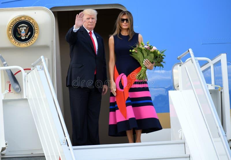 Atout de Donald Trump et de Melania images stock