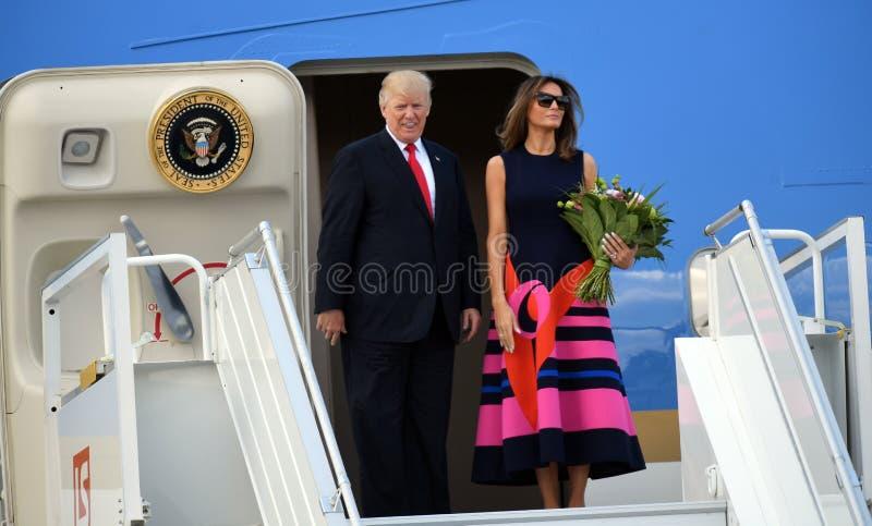 Atout de Donald Trump et de Melania photo libre de droits