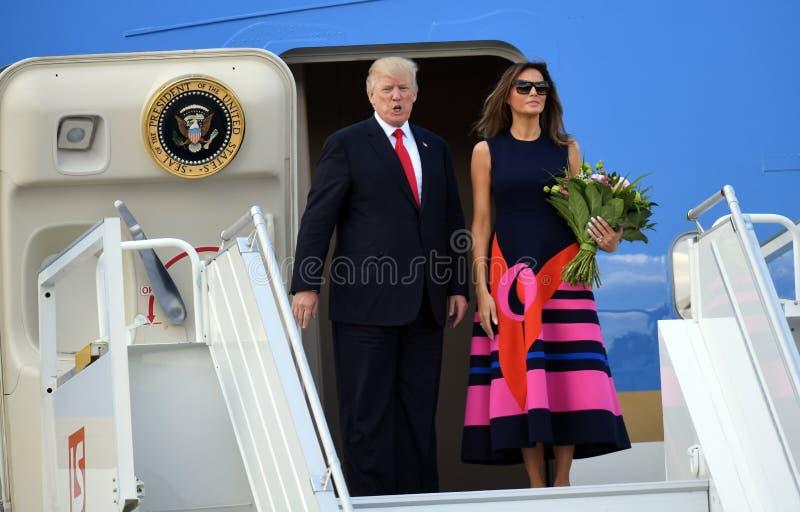 Atout de Donald Trump et de Melania photographie stock libre de droits