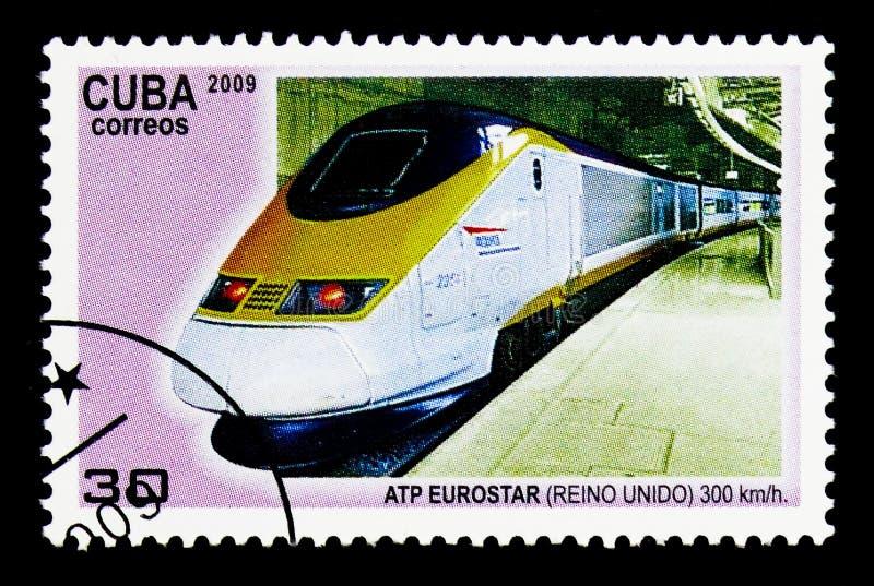 Atp Eurostar (Vereinigtes Königreich), Hochgeschwindigkeitseisenbahnen serie, circa lizenzfreie stockfotos