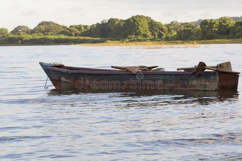 AtPunta Иисус Мария рыбацкой лодки, остров Ometepe стоковая фотография rf