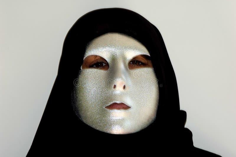 Atrás da máscara imagem de stock