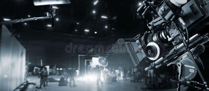 Atrás das cenas da fatura do filme e do anúncio de televisão Grupo de filme imagens de stock