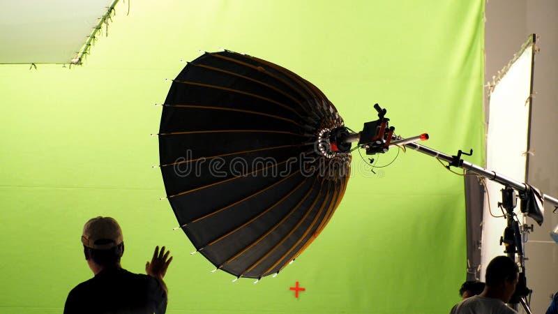 Atrás das cenas de fazer a produção video imagens de stock