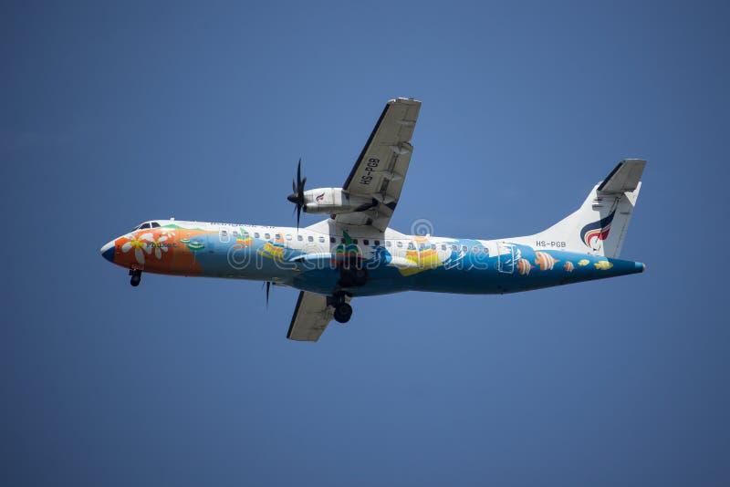 ATR 72-500 de HS-PGB de voie aérienne de Bangkok image libre de droits