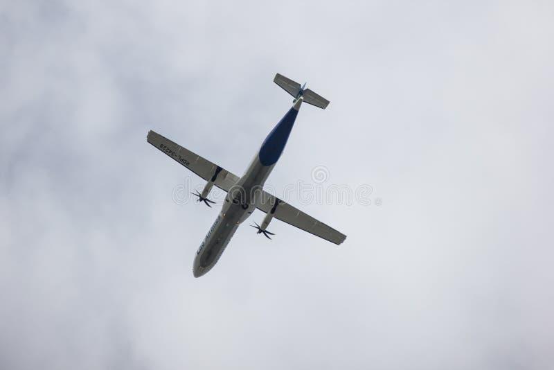 ATR72-600 Lao Airlines стоковые фото