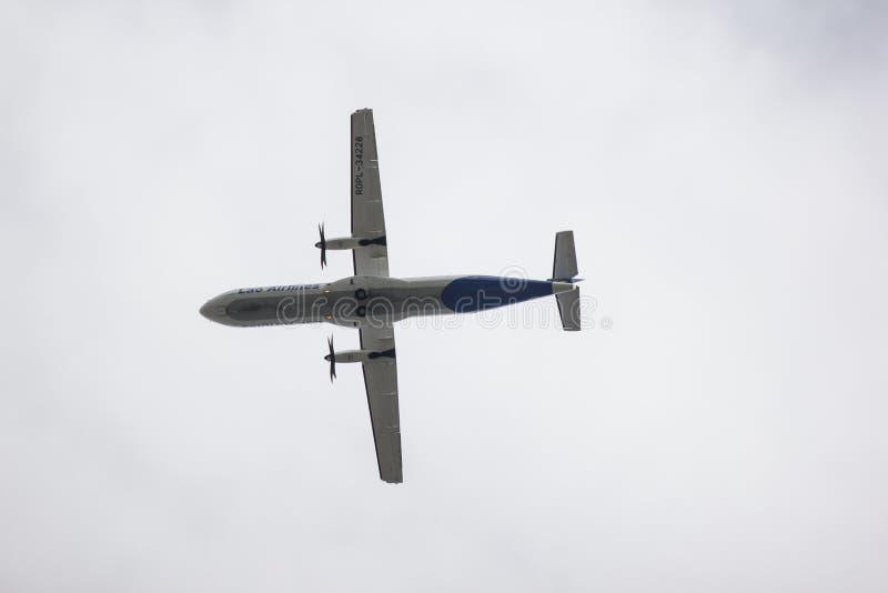 ATR72-600 Lao Airlines стоковое изображение