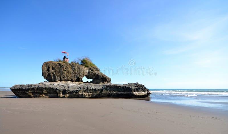 Atração de Yeh Gangga Beach. Bali Indonésia fotos de stock royalty free