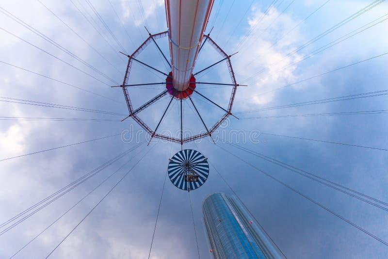Atração do céu da flor da cidade de Tokyo Dome fotografia de stock royalty free