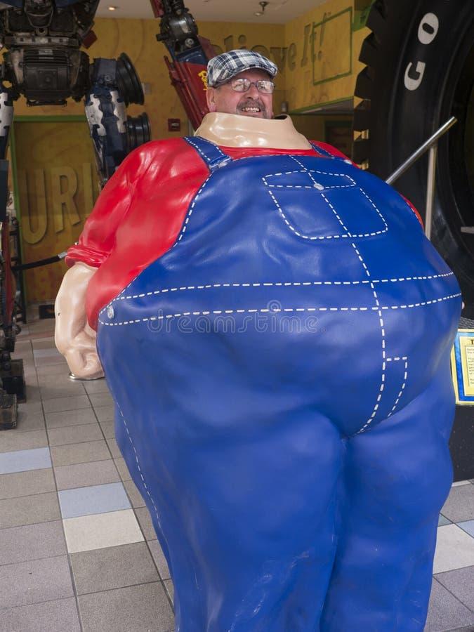 Atração em Main Street em Gatlinburg um recurso de feriado em Tennessee EUA imagens de stock royalty free