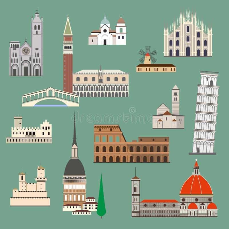 Atração italiana ilustração royalty free