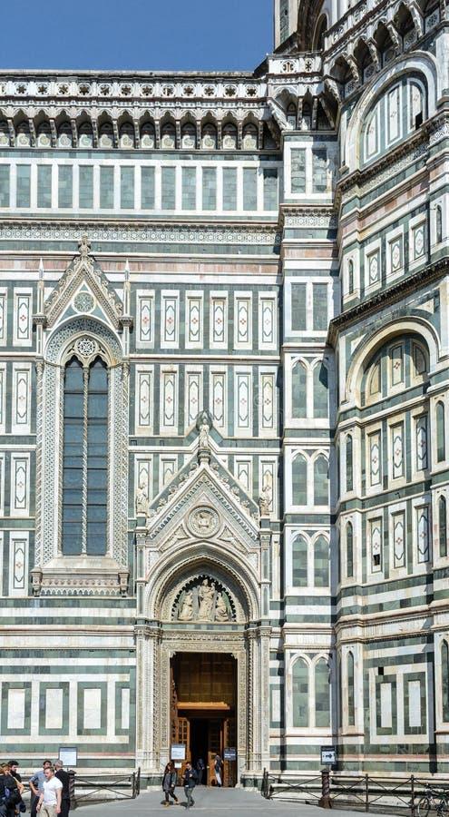 A atração principal de Florença O símbolo da cidade Os cofres-forte da catedral de Santa Maria del Fiore são decorados com fotografia de stock