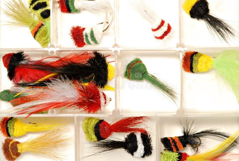 Atrações da pesca de mosca imagens de stock
