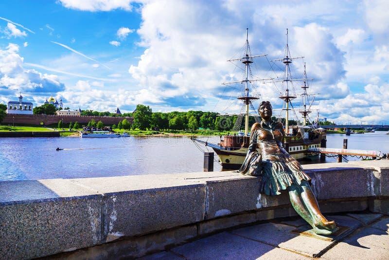 Atrações de Veliky Novgorod, Rússia fotografia de stock royalty free