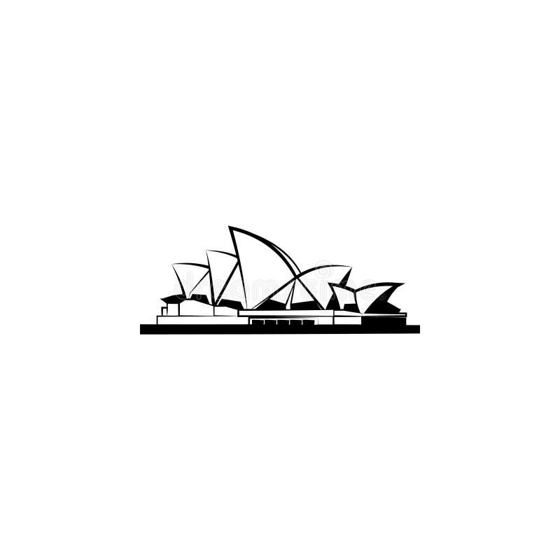 Atrações do mundo Teatro da ópera em Sydney ilustração stock