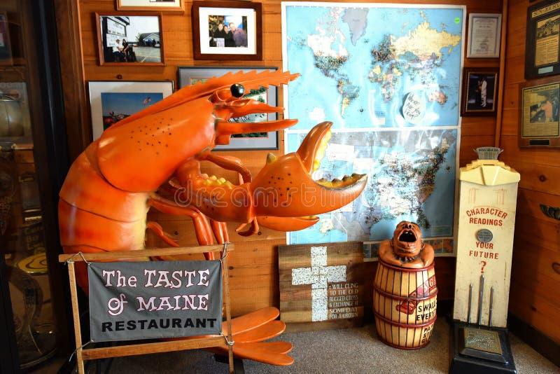 Atracción de la langosta del restaurante de Woolwich Maine los E.E.U.U. fotos de archivo libres de regalías
