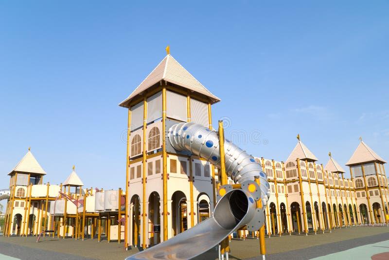 Atracción del parque temático foto de archivo