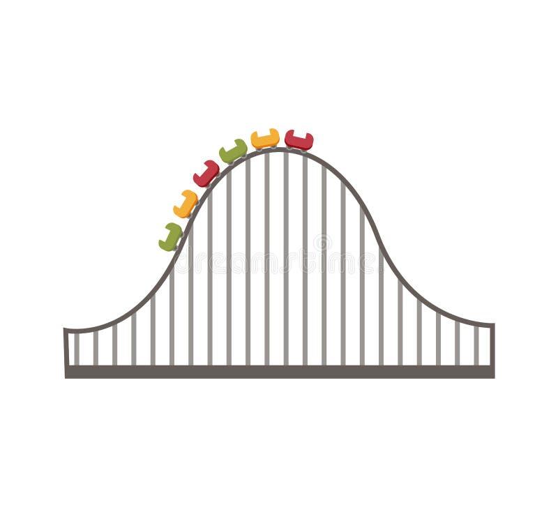 Atracción del rodillo del práctico de costa del icono del parque de atracciones ilustración del vector