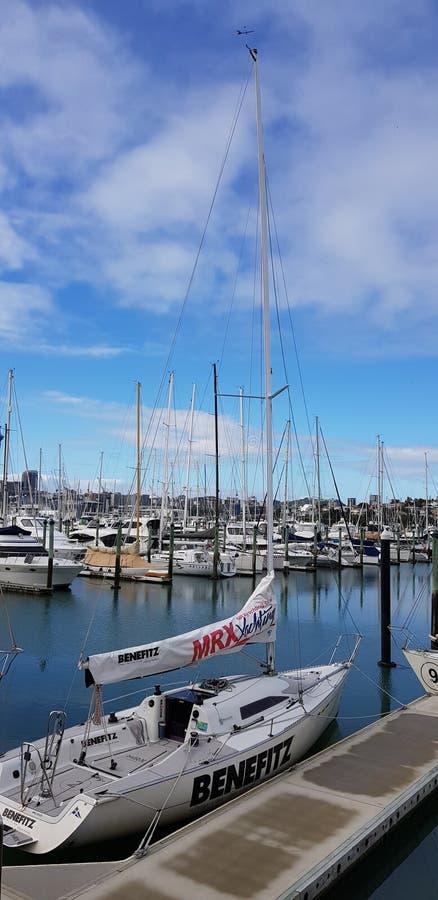 Atracción turística de Auckland y x28; Yatch& x29; imagen de archivo