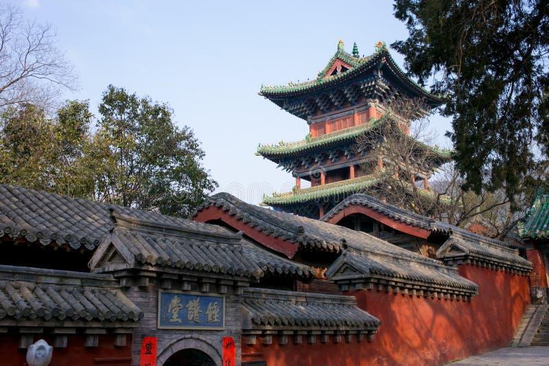 Atracción turística famosa del ` s de Henan, China, Shaolin Temple, Songshan fotos de archivo libres de regalías