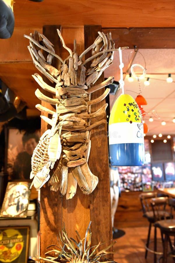 Atracci?n de la langosta del restaurante de Woolwich Maine los E.E.U.U. imágenes de archivo libres de regalías