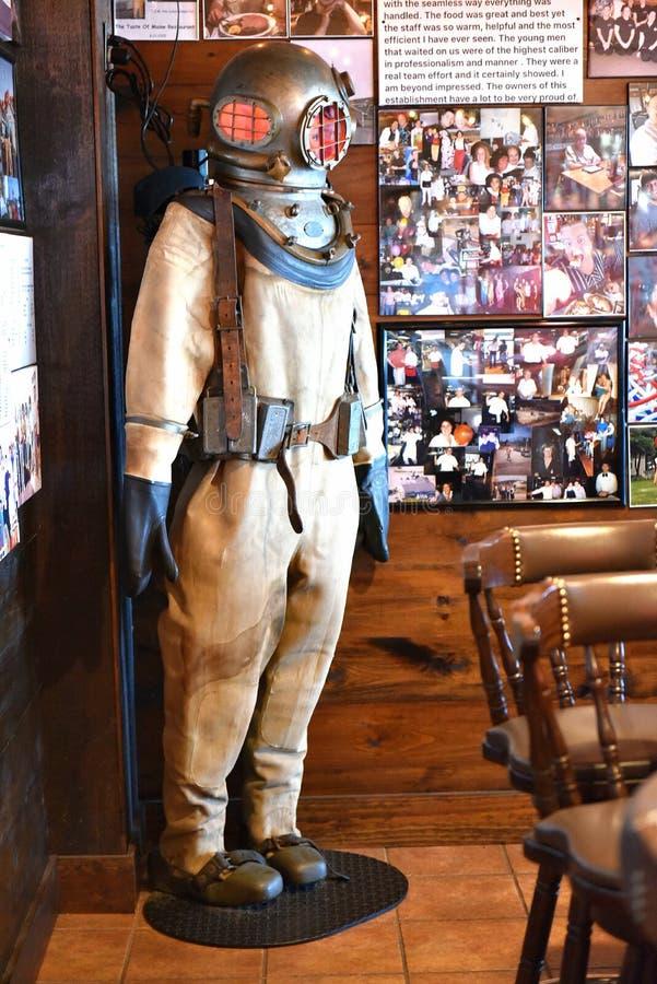 Atracci?n de la langosta del restaurante de Woolwich Maine los E.E.U.U. foto de archivo