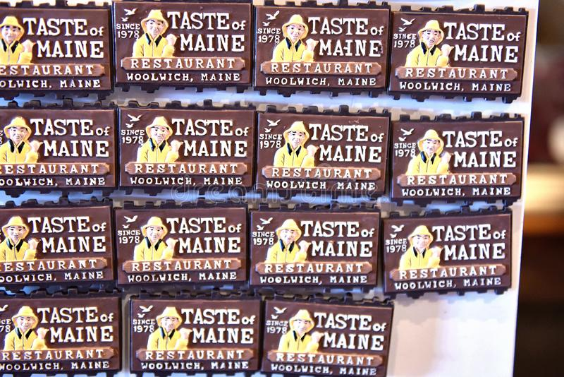 Atracci?n de la langosta del restaurante de Woolwich Maine los E.E.U.U. imagenes de archivo