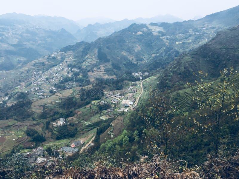 Atracciones turísticas del pueblo del día de fiesta del tangbashe foto de archivo