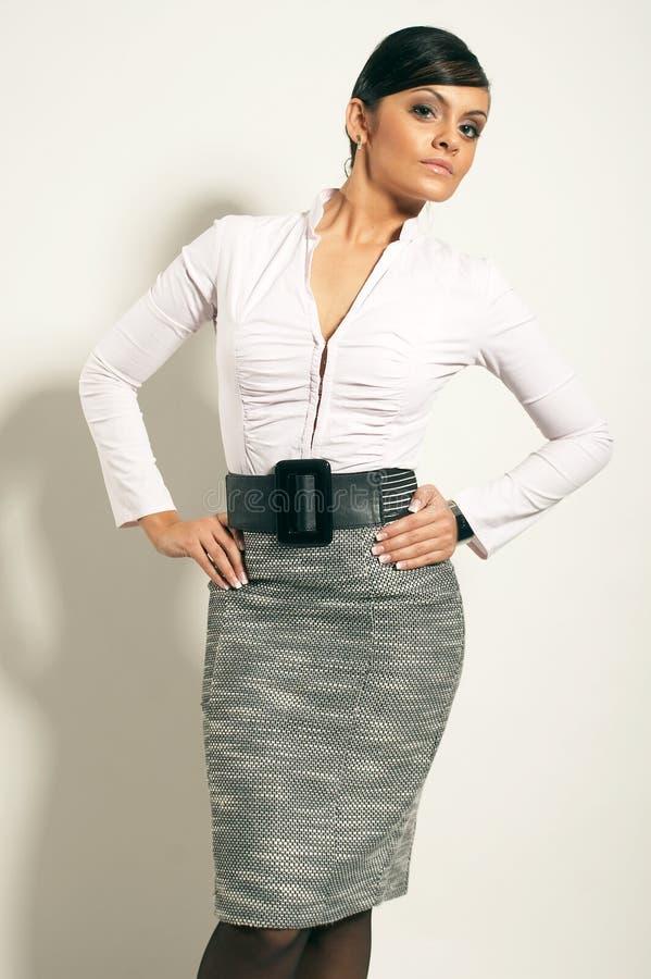 Atractive Brunet-Geschäftsfrau stockbilder