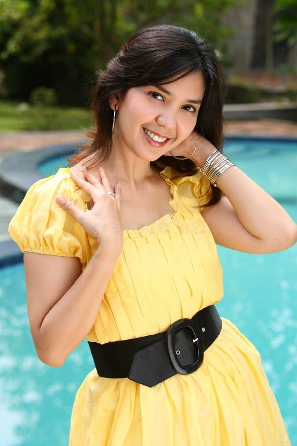 Atractive Multiracial  Girl at Swimming Pool