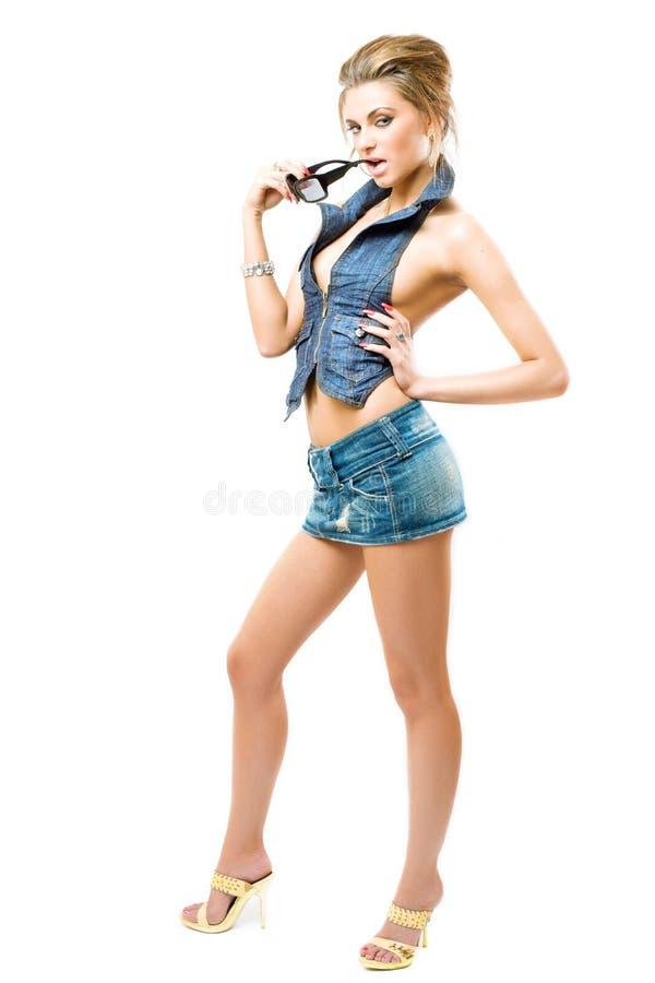 atractive posera för flicka arkivfoton