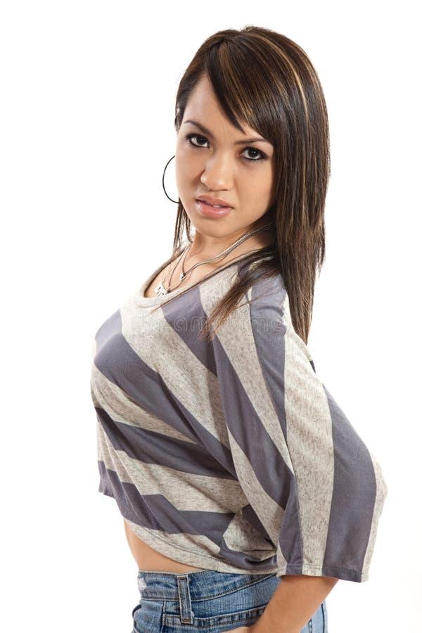 Atrakcyjna azjatykcia filipińska mody kobieta zdjęcie stock