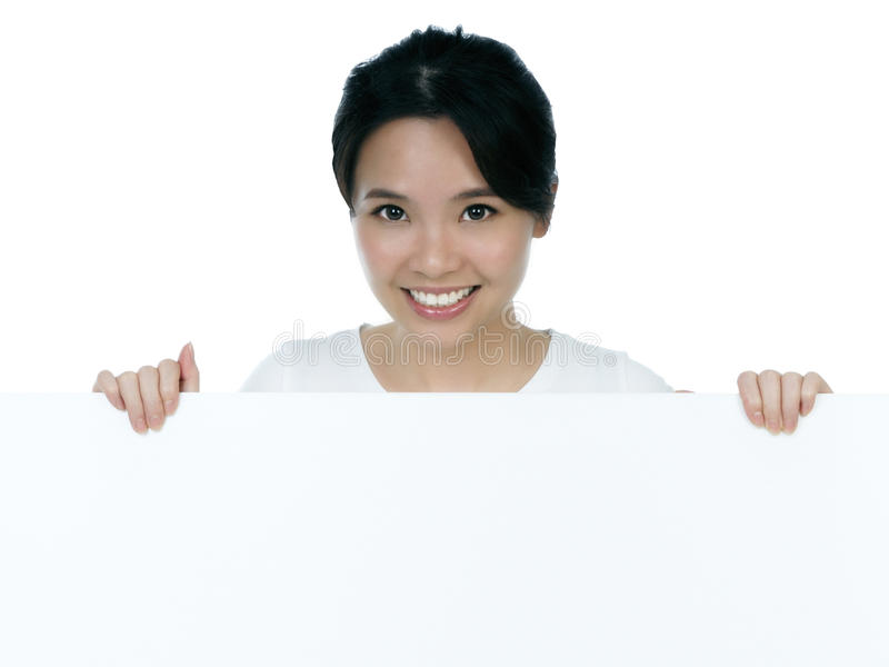 Atrakcyjna Billboardu Mienia Kobieta Obraz Royalty Free