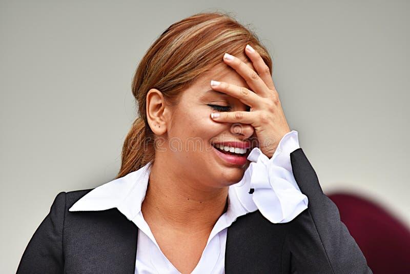 Atrakcyjna Biznesowa kobieta I szczęście obrazy royalty free